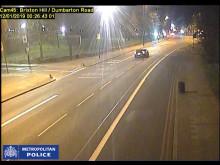 CCTV showing Blackwood Jones driving at speed