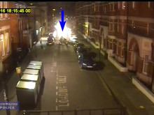 CCTV footage of collision