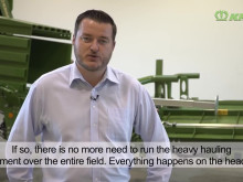 BaleCollect 1230 är Krones första balsamlare och lanserades på Agritechnica 2017.
