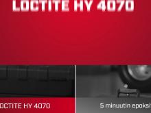 LOCTITE HY 4070 vs. 5 minuutin epoksit (FI)
