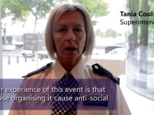 Pre-ride out message with Police Superintendent Tania Coulson