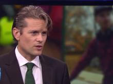 Pella Larsdotter Thiel och Mattias Svensson i SVT Aktuellts inslag om liberalism, frihet och omställning. #kissaisängen #omställning