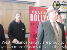 Hello Dolly flash mob entertains passengers at Wolverhampton railway station