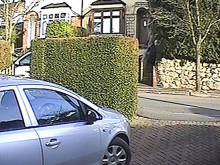 Footage of stolen Ford Transit