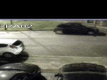 CCTV footage of criminal damage to cars