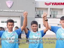 Four Yamaoka Hanasaka Academy Graduates Become Pro-Footballers in Project to Support Thai Students' Academic and Football Activities