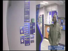 CCTV of robbery of bookmaker in Shepherds Bush