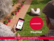 Inställningar via smartphone-app på Honda Miimo robotgräsklippare