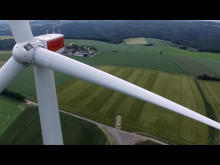 Two of Obton Wind Turbines south of Frankfurt
