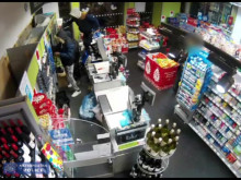 CCTV of incident at Co-op in Middlesex Street, E1