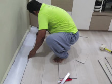 How to replace popped floor tiles