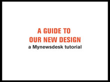 Tutorial: A guide to our new design