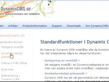 Dynamix CMS, ny version ute nu. Publiceringsverktyget för utvecklare och webbredaktörer