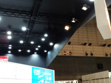 Flying papercraft crane 'Orizuru' @CEATEC Japan 2015 ROHM Semiconductor booth