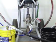 Steg 2 Mascoat: Preparera pumpen
