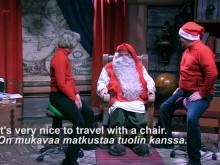 Salli visits Santa Claus