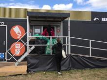 Effektiv pantstation på Roskilde festival