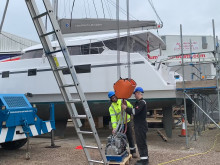 Video - Fischer Panda UK generator installed on Natasha Lambert's catamaran 'Blown Away' - Timelapse
