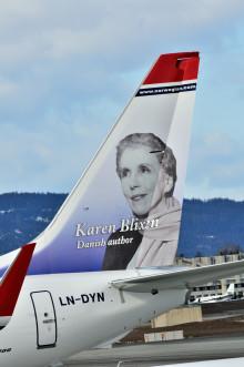 Karen Blixen på nyt Norwegian-fly