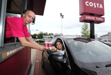 QUALITY COFFEE BREAKS FOR NOTTINGHAM MOTORISTS AS COSTA OPENS ITS  FIRST UK DRIVE THRU AT CASTLE MARINA