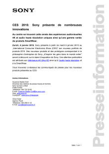 Communication de presse_ CES 2015_Overview_F-CH_150106