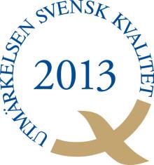 HSB Östergötland mottagare av Utmärkelsen Svensk Kvalitet 2013