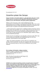 Glutenfria nyheter från Semper