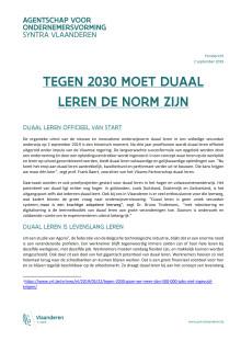 Tegen 2030 moet duaal leren de norm zijn