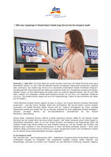 1.800 neue Copyshops in Deutschland: Kodak Copy Service bei dm-drogerie markt
