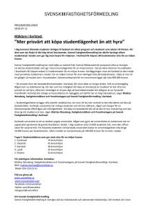 """Mäklare i Karlstad: """"Mer prisvärt att köpa studentlägenhet än att hyra"""""""