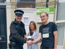 Hastings and Rother Samaritans gain cash boost  from Sussex Police