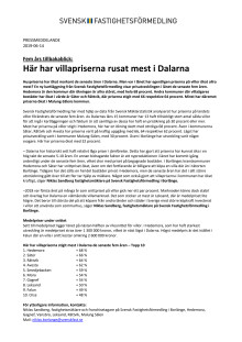 Fem års tillbakablick: Här har villapriserna rusat mest i Dalarna