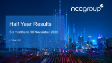 Interim results for the six months ended 30 November 2020