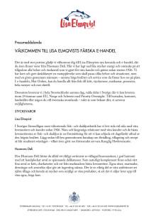 Välkommen till Lisa Elmqvists färska e-handel