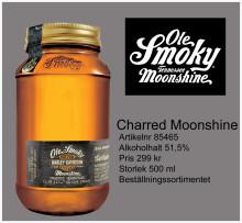 Ole Smoky Charred Moonshine i Systembolagets beställningssortiment.