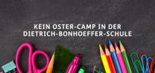 Dietrich-Bonhoeffer-Schule sagt Ostercamp ab