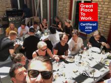 Vi är certifierade som en utmärkt arbetsplats enligt Great Place to Work!