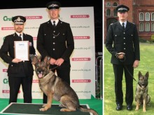 Police dog and handler claim national award at Crufts