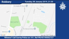 Did you witness a robbery in Redhill last night?
