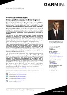 Garmin übernimmt Tacx:  Strategischer Ausbau im Bike-Segment