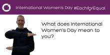 Executive Committee on International Women's Day: Max Baldwin
