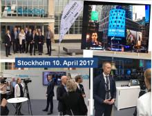 FM Mattsson Mora Group listautui pörssiin Tukholmassa 10.4.2017!