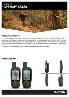 Datenblatt GPSMAP 65/65s