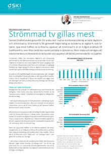 Strömmad tv gillas mest