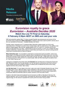 Eurovision royalty to grace Eurovision – Australia Decides 2020