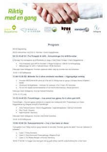 Program Riktig med en gang 2017 - Oslo