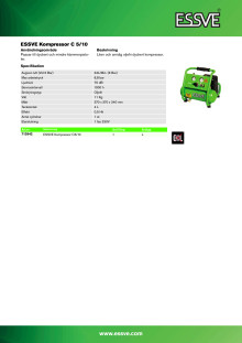 Produktblad - ESSVE C 5/10