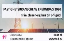 Fastighetsbranschens Energidag 2020 - Är du redo för OFF-GRID?