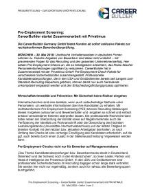 Pre-Employment Screening: CareerBuilder startet Zusammenarbeit mit Privatimus