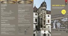 """Faltblatt zur Ausstellung """"DAS WORT im Bild"""""""